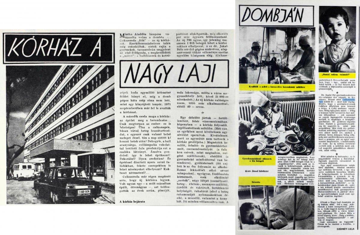 Új Élet, 1972. február 10. •  Fotó: Forrás: a Csíkszeredai Megyei Sürgősségi Kórház gyűjtése