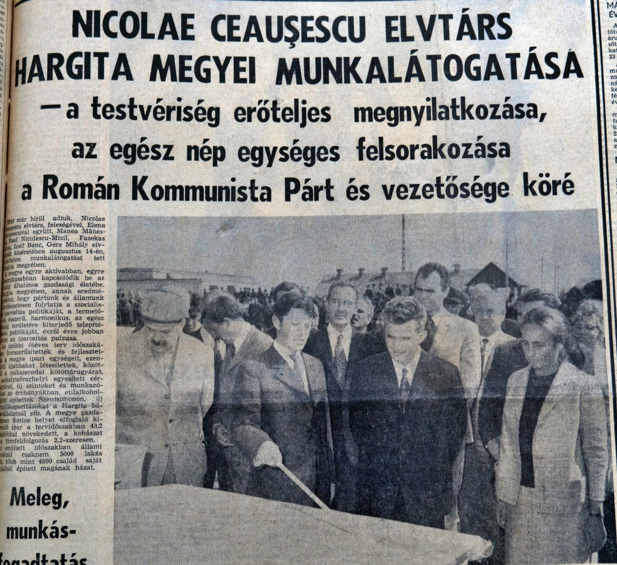 Hargita, 1971. augusztus 16. •  Fotó: Forrás: a Csíkszeredai Megyei Sürgősségi Kórház gyűjtése