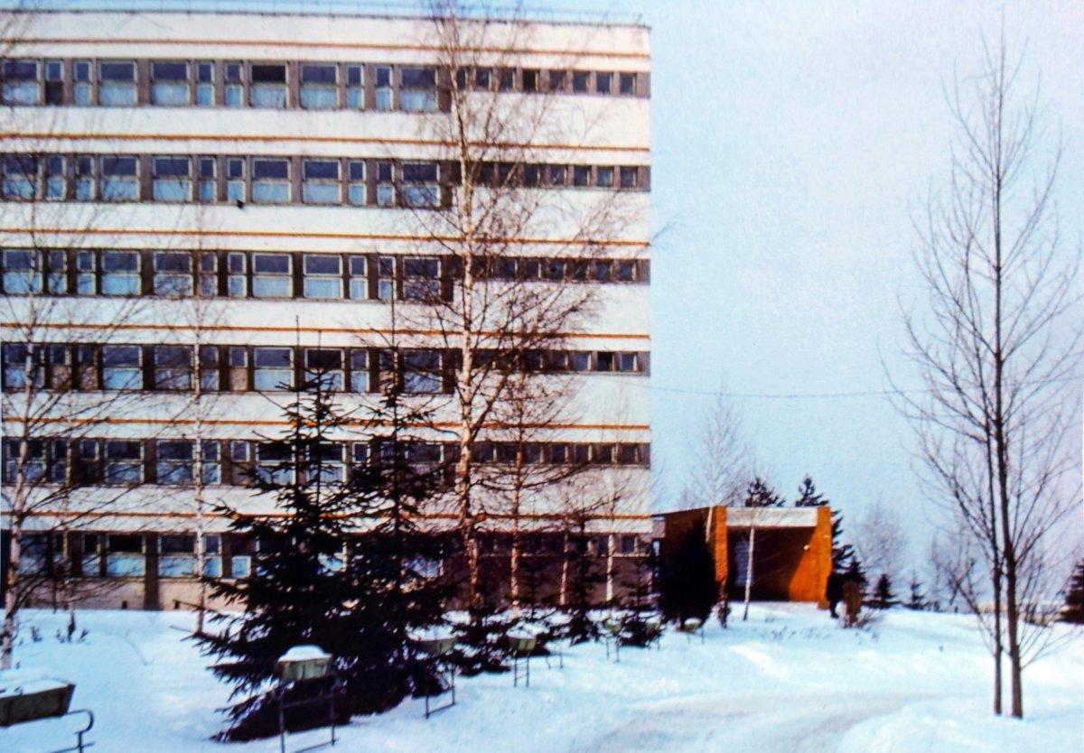 A megyei kórház 1985-ben (diapozitívról másolt fotó) •  Fotó: Kraft Zsolt