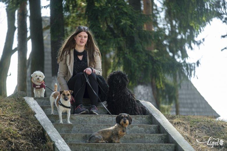 """Boróka és egy """"csokornyi"""" kutya. Miért vállal állatsétáltatást egy fiatal lány?"""