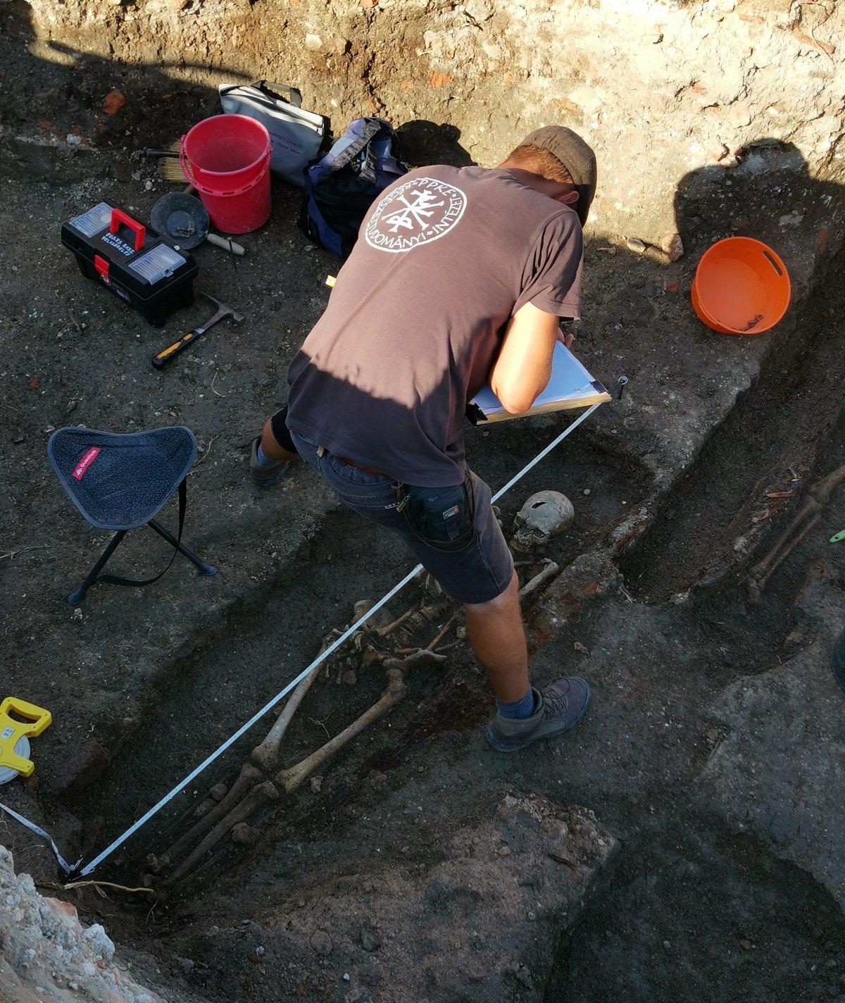 A terephelyszínen számos szakszerű munkalépés van •  Fotó: Az egresi ásatási projekt fotóarchívuma