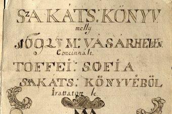 Szakácskönyvek anno: évszázados receptek a Teleki Tékából