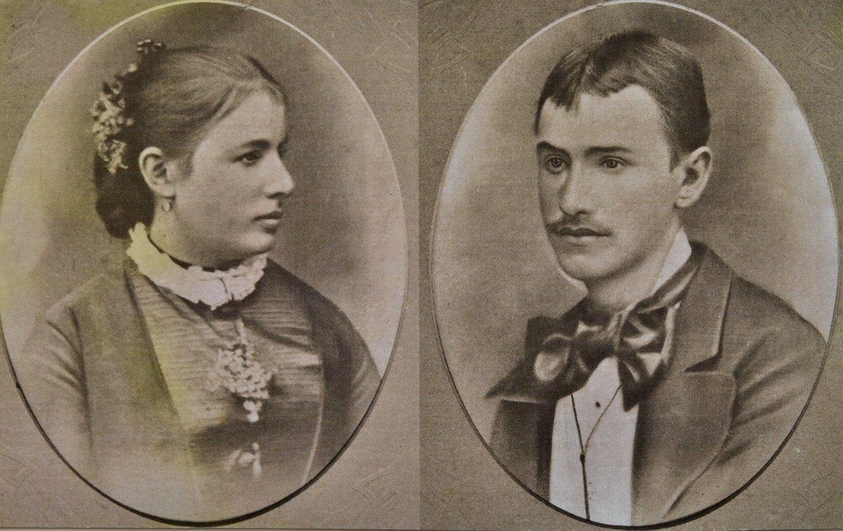 Dédszülők, Köllő Marcella és Szabó Sándor, 1883 •  Fotó: Nagy Gyöngyvér személyes archívuma
