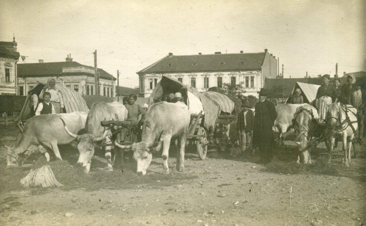 Székely menekültek Nagyváradon, német katonai felvétel, 1916 •  Fotó: Molnár Attila gyűjteménye