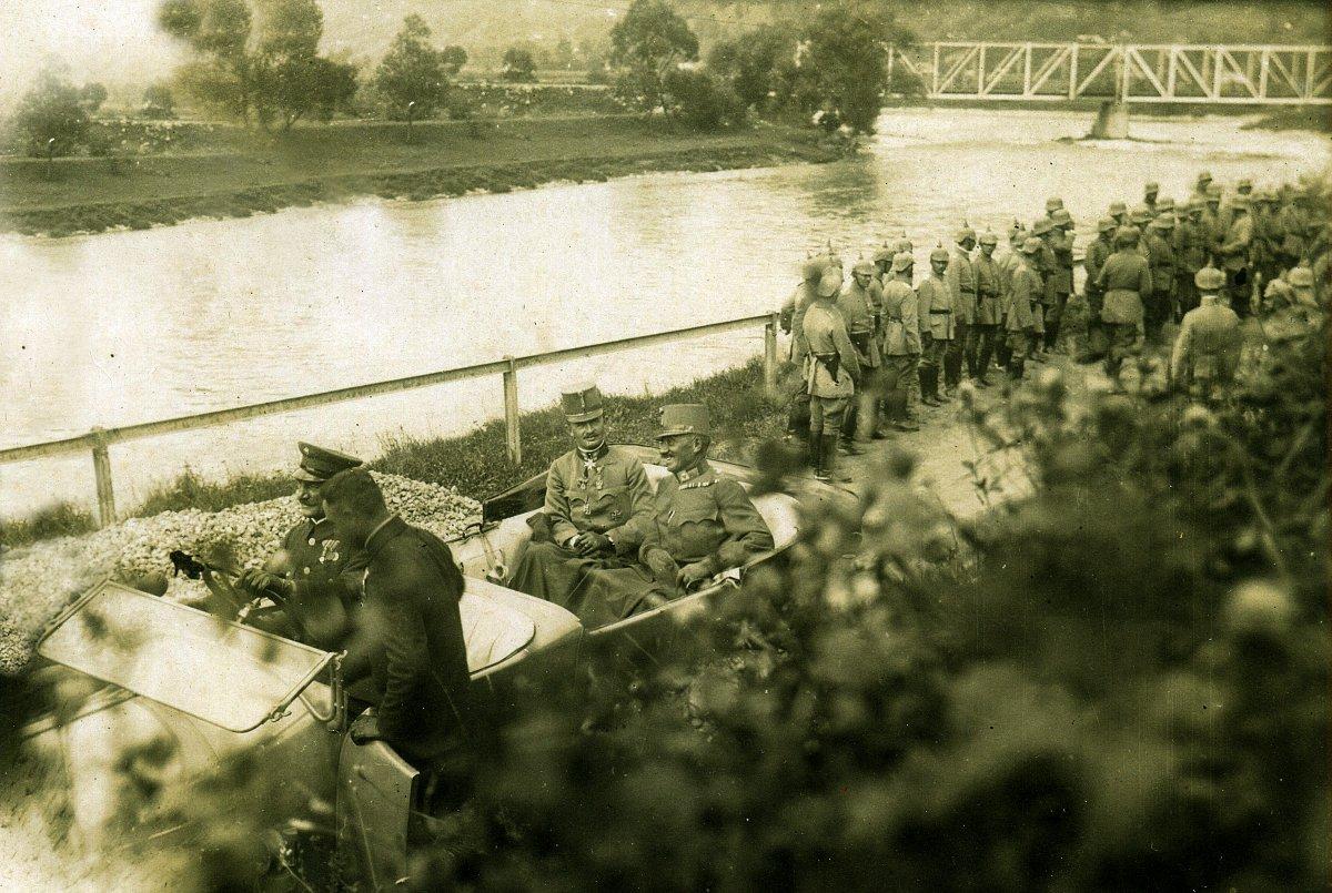 IV. Károly – mint trónörökös – Isonzóban, 1916 •  Fotó: Molnár Attila gyűjteménye