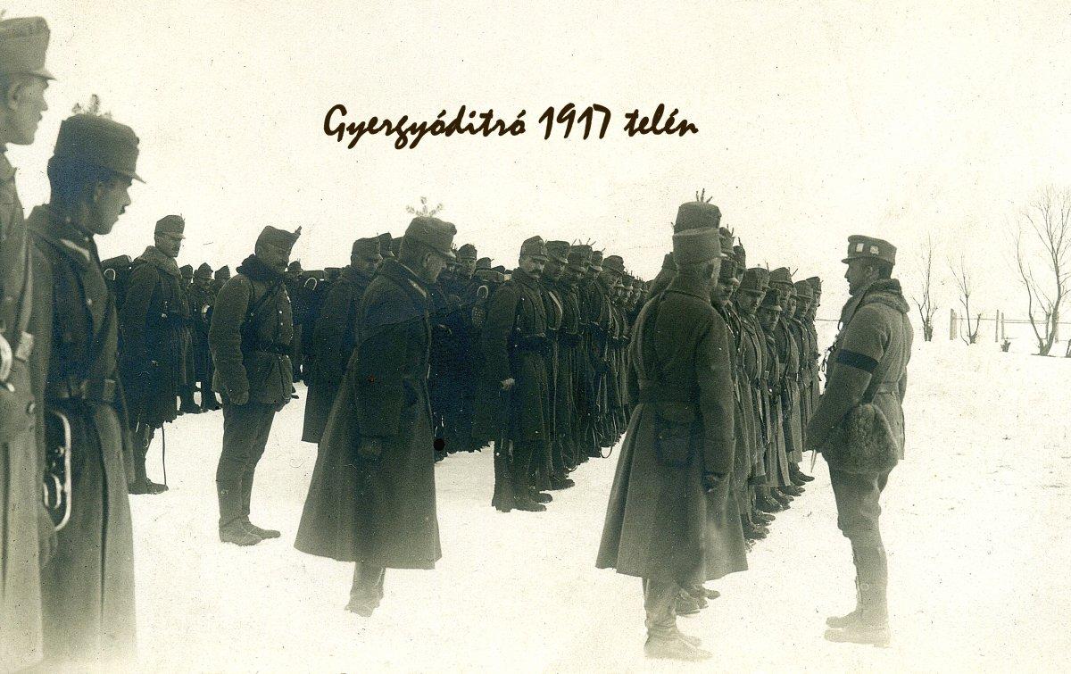 József főherceg látogatása Gyergyóditróban, 1917 •  Fotó: Molnár Attila gyűjteménye