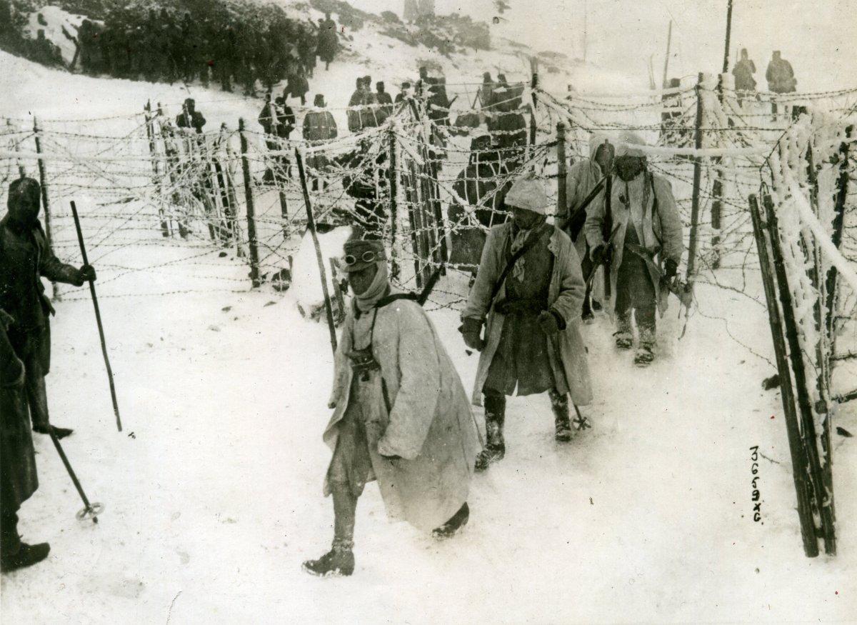 Magyar-osztrák katonák Tirolban •  Fotó: Molnár Attila gyűjteménye