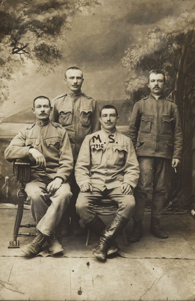 Molnár Sándor szibériai fogságban,  ezt a fényképet küldte haza a feleségének •  Fotó: Molnár Attila gyűjteménye