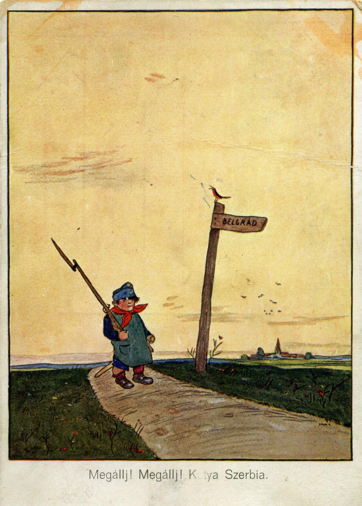 Képeslap 1914-ből •  Fotó: Molnár Attila gyűjteménye