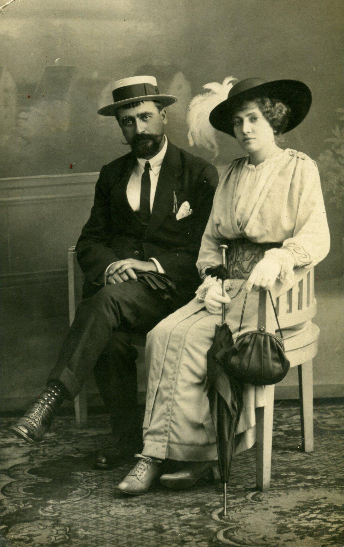 Ion I. C. Brătianu és felesége •  Fotó: Molnár Attila gyűjteménye