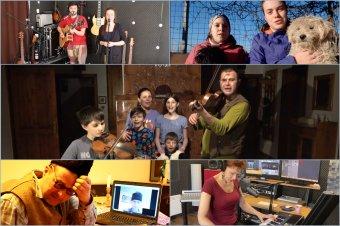 Otthonülős videók az otthonokból. Kitartásra biztató előadóművészek
