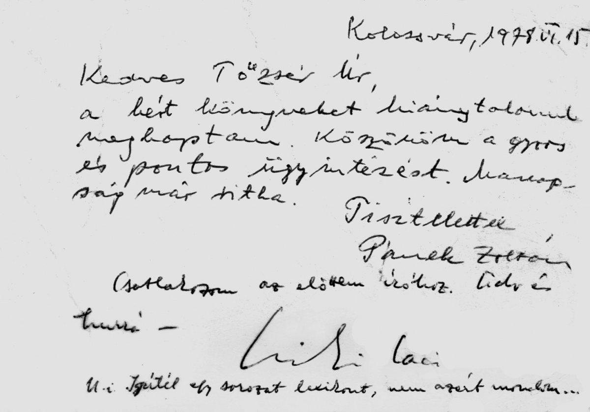 Közös levél •  Fotó: A Tőzsér-család archívumából