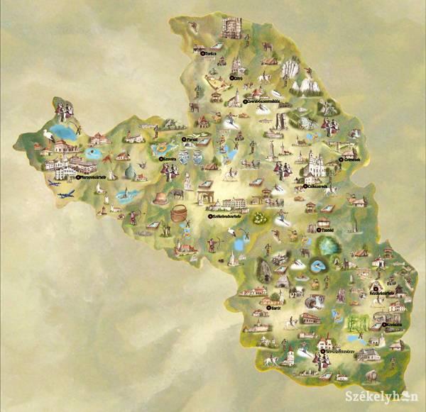 székelyföld térkép Székelyföldi turisztikai térkép a Hungexpón székelyföld térkép