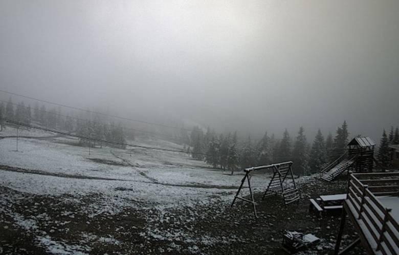 Májusi hó a Madarasi Hargitán