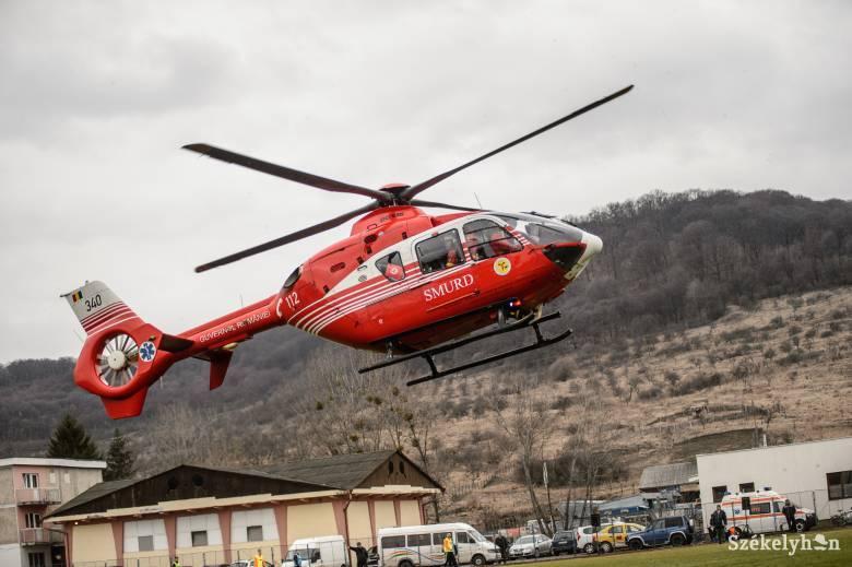 Sötétedés után Hargita megyében sehol nem tud leszállni a mentőhelikopter