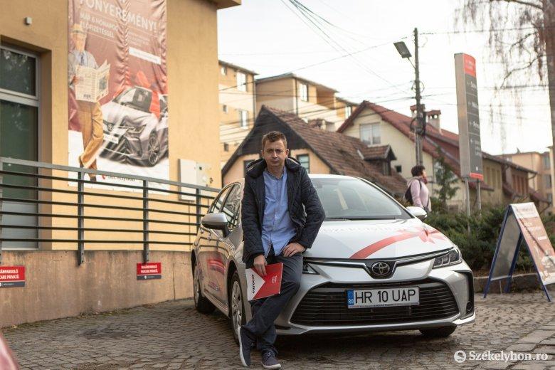 Xántus Árpád nagy napja: hozzájutott a Toyota Corollához