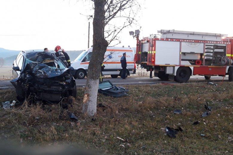 Lóval ütközött egy személygépkocsi Szentegyháza határában, a sofőr életéért küzdenek