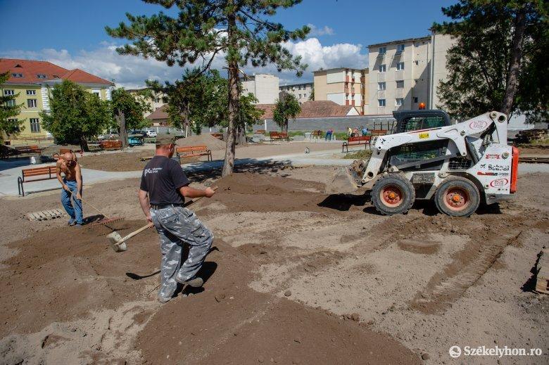 Heteken belül elkészül az udvarhelyi kórház új parkja