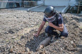 Világháborús bombát találtak Székelyudvarhelyen