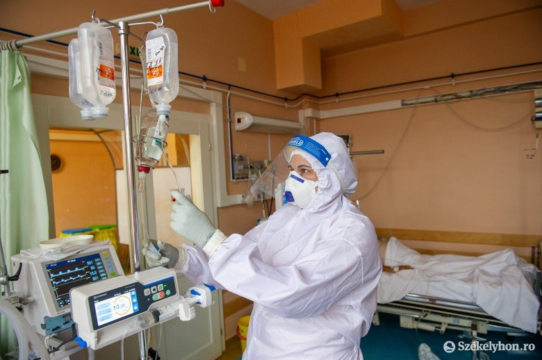 Kevesebb az új fertőzött, de tovább nőtt az intenzív osztályon ápolt betegek száma