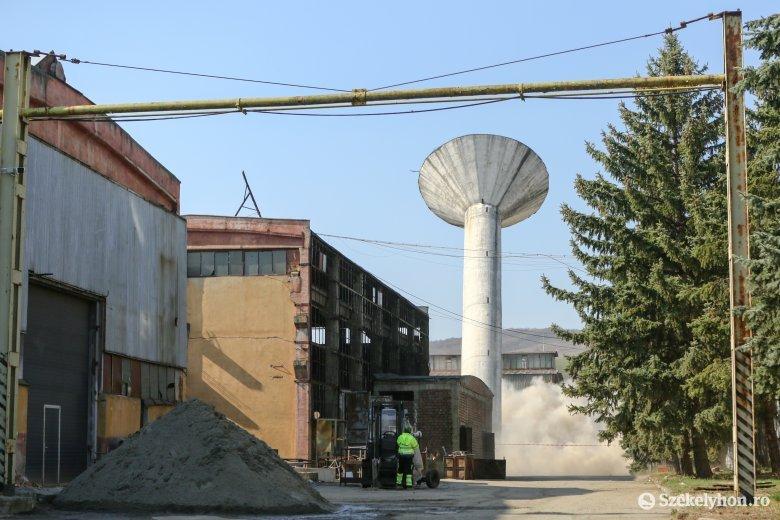Víztornyot robbantottak fel Székelyudvarhelyen