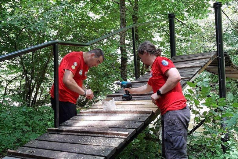 Karbantartási munkálatok zajlanak a Vargyas-szoros turistaösvényein