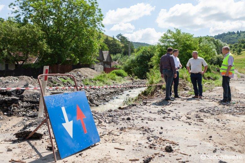 Közel 4 millió lejt kér a Hargita megyei prefektúra az árvízkárok helyreállítására