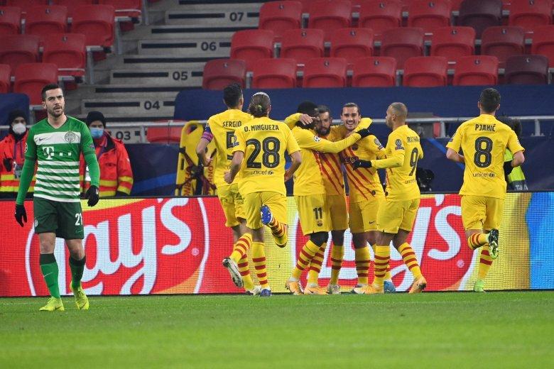 Három elég volt: sima Fradi-vereség a Barcelona ellen a BL-ben