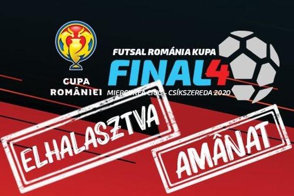 Elmarad a teremlabdarúgó Román Kupa négyes döntője