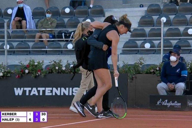 Súlyosnak tűnő sérülést szenvedett Simona Halep a római tenisztornán