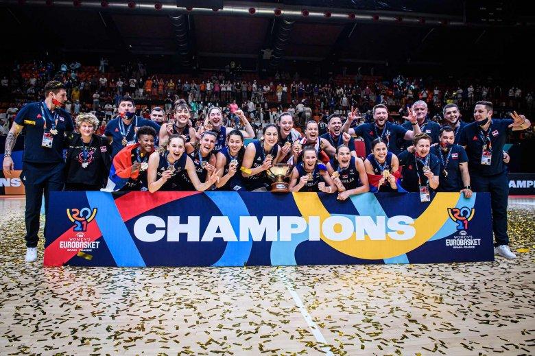 A szerb válogatott nyerte a női kosárlabdázók kontinensbajnoki címét