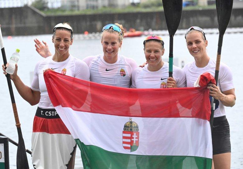 A hatodik magyar aranyérem: olimpiai bajnok a női kajak négyes
