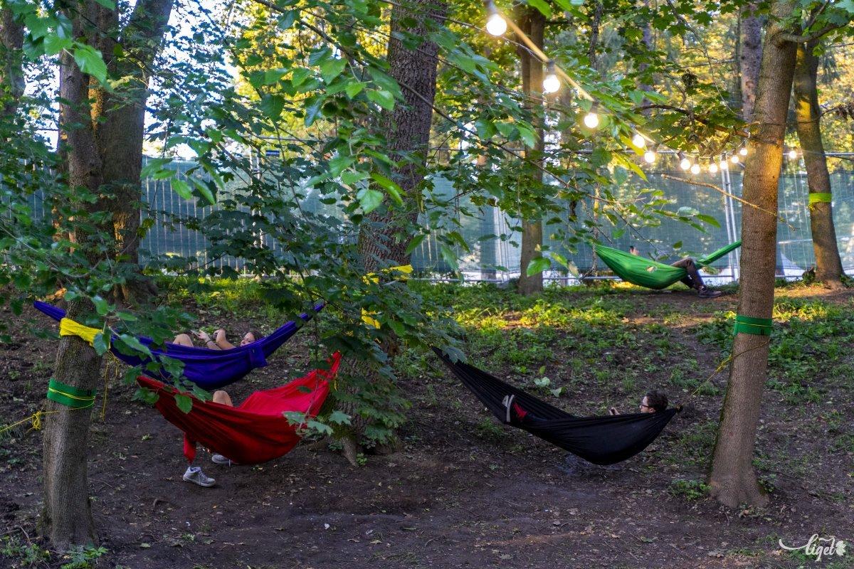 Mindenhol függőágyakon lehetett pihenni •  Fotó: Haáz Vince