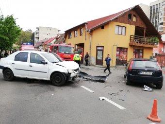 Két autó ütközött Marosvásárhelyen