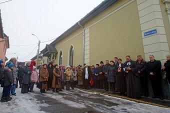 Luther-utcanévtáblát avattak a marosvásárhelyi evangélikus templom falán