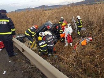 Felborult egy autó, az egyik utas életét vesztette
