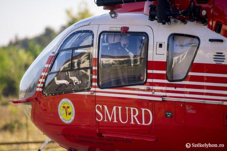 Helikopterrel vitték Vásárhelyre az erdőszentgyörgyi baleset sérültjét