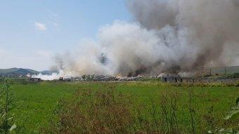 Füstfelhőben Marosludas egy része