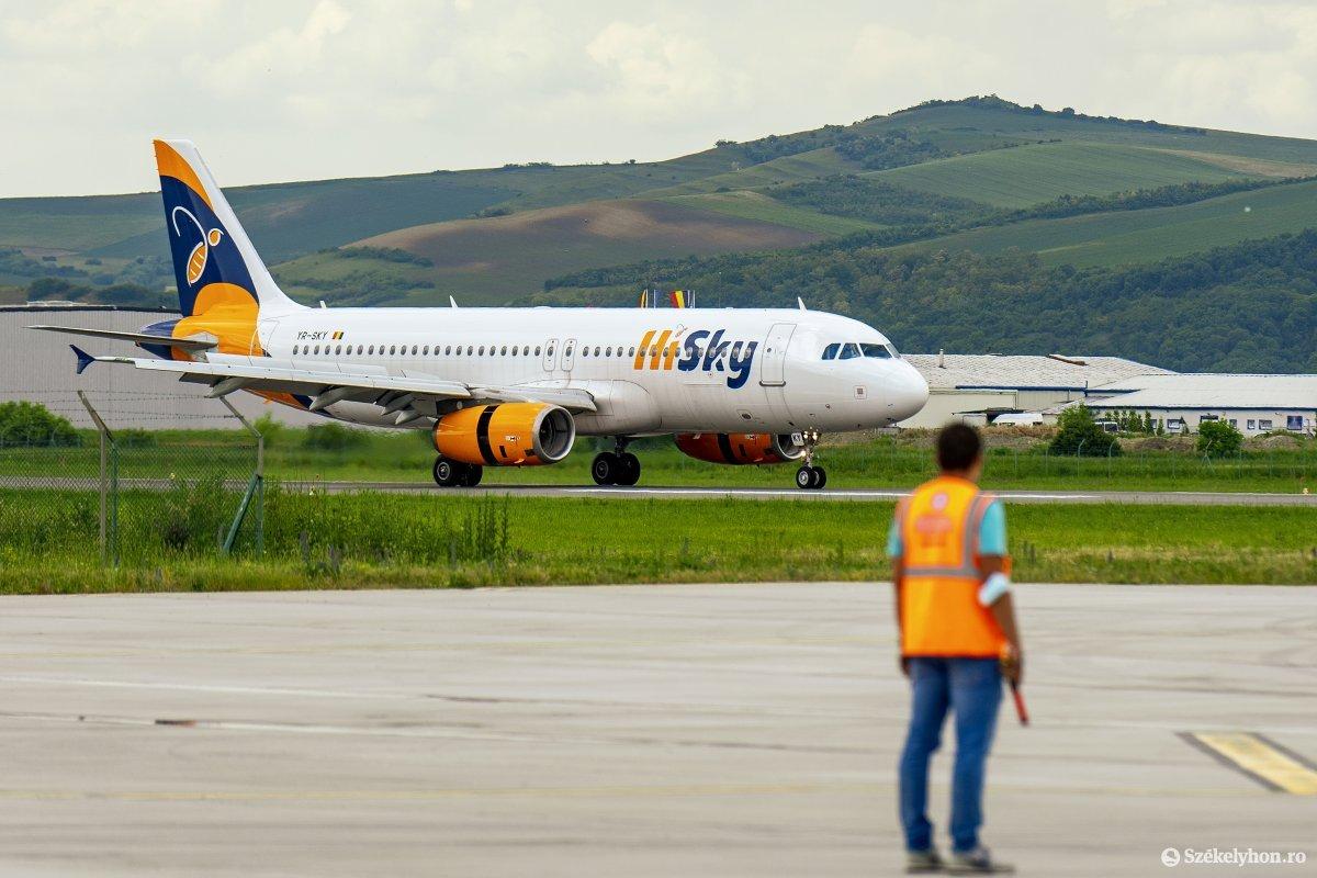 A harmadik, egyiptomi járatot működtető cég is megérkezett Marosvásárhelyre •  Fotó: Haáz Vince
