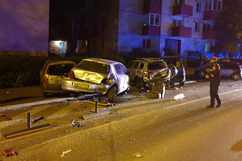 Több autót is megrongált az ittasan menekülő gépkocsivezető