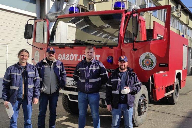 Új tűzoltókocsival dolgozhatnak a nyárádszeredai tűzoltók
